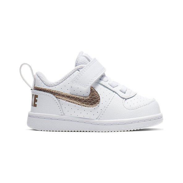 821a78a4b8d2 Nike Court Borough Infant Girls  Trainer White Blue