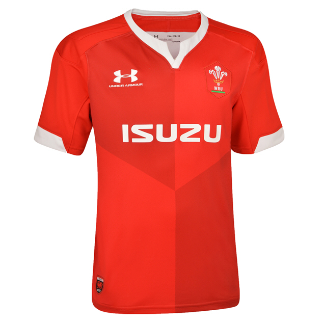 Under Armour® Wales 2019 Kids' Home Jersey, Red