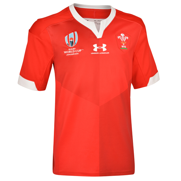 Under Armour® Wales RWC19 Kids' Home Jersey, Red