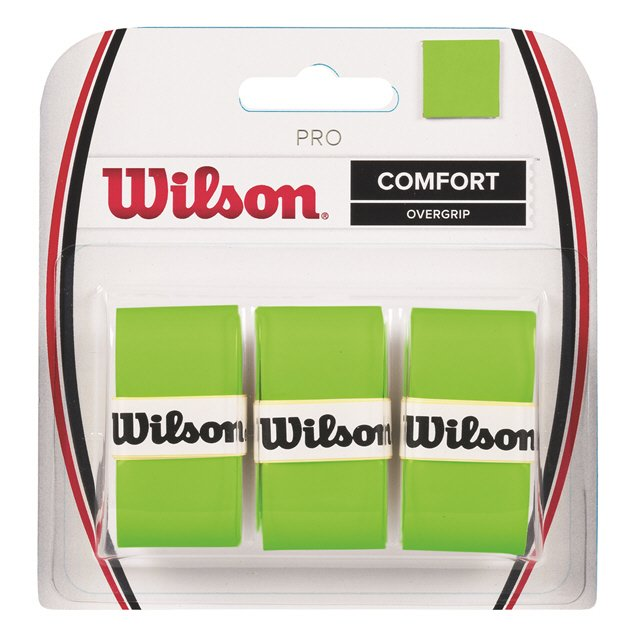 Wilson Pro Overgrip 3 Pack Green