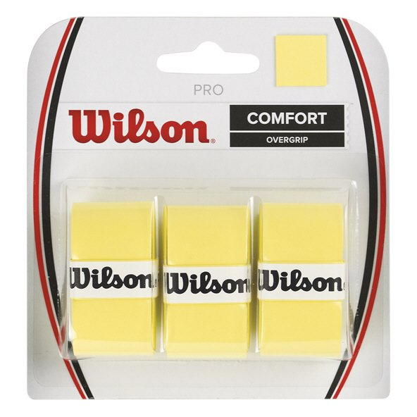 Wilson Pro Overgrip 3 Pack Yellow