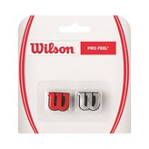 Wilson Pro Feel Dampener 2 Pack, Red/Silver