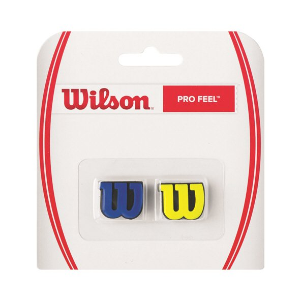 Wilson Pro Feel Dampener 2 Pack, Blue/Yellow