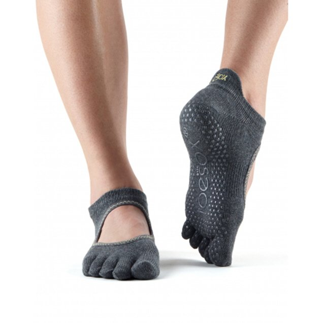 ToeSox Bellarina Full Toe Socks Grey