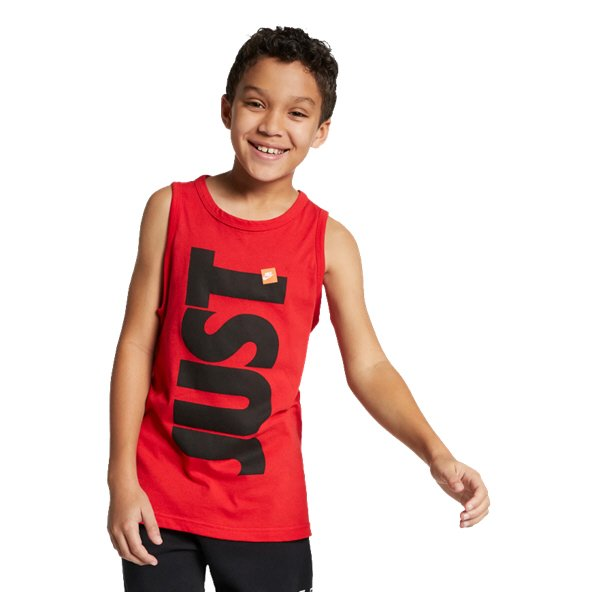 Nike Swoosh JDI Boys Tank Red/Black