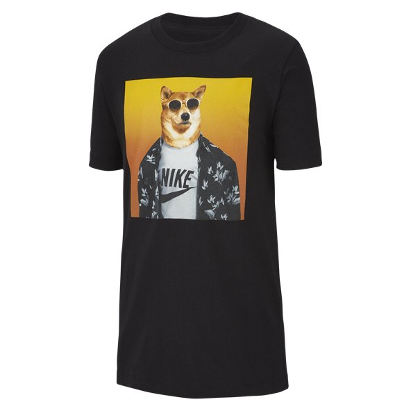 Nike Swoosh Futura Animal Boys' T-Shirt, Black