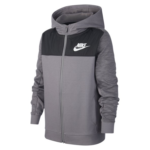 Nike Swoosh Advance FZ Boys' Hoody, Grey
