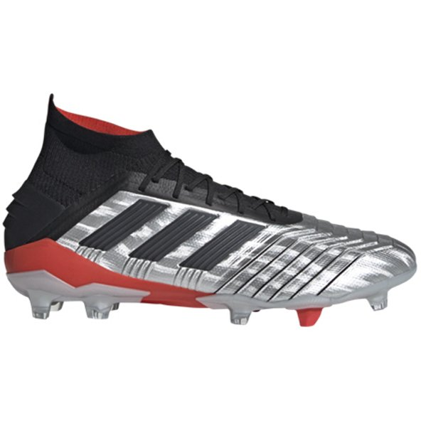 adidas Predator 19.1 FG Football Boot, Silver