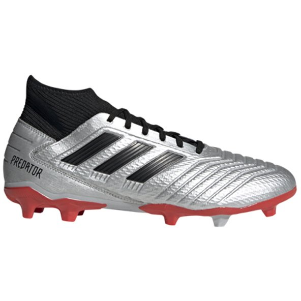 adidas Predator 19.3 FG Football Boot, Silver