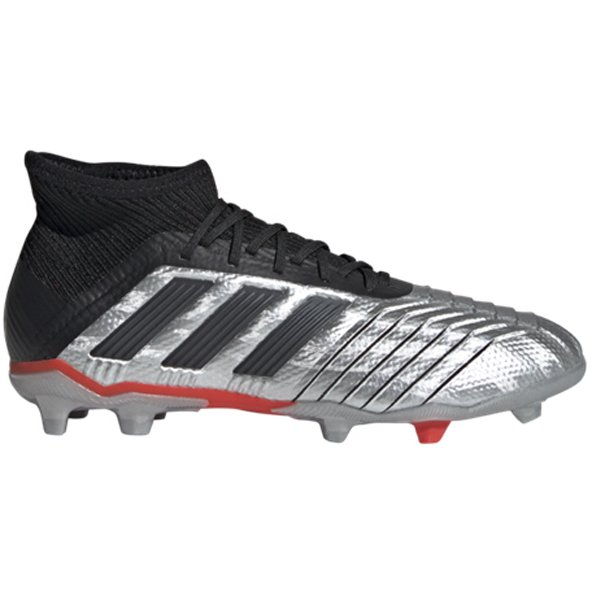 adidas Predator 19.1 Kids' FG Football Boot, Silver