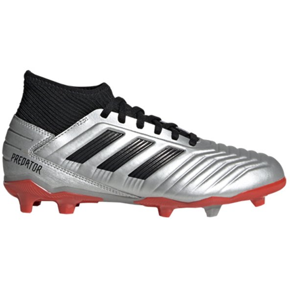 adidas Predator 19.3 Kids' FG Football Boot, Silver