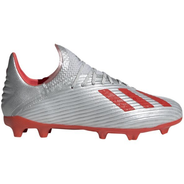 adidas X 19.1 Kids' FG Football Boot, Silver