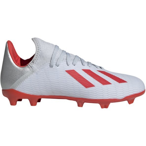 adidas X 19.3 Kids' FG Football Boot, Silver