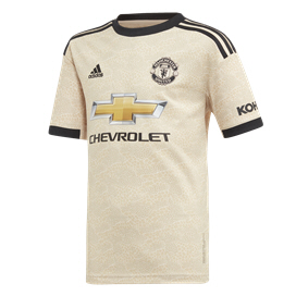 adidas Man United 2019/20 Kids' Away Jersey, Beige