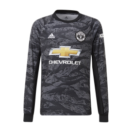 adidas Man United 2019/20 Kids' Away GK Jersey, Black