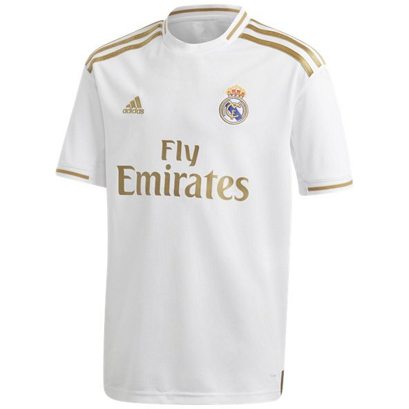 adidas Real Madrid 2019/20 Kids' Home Jersey, White