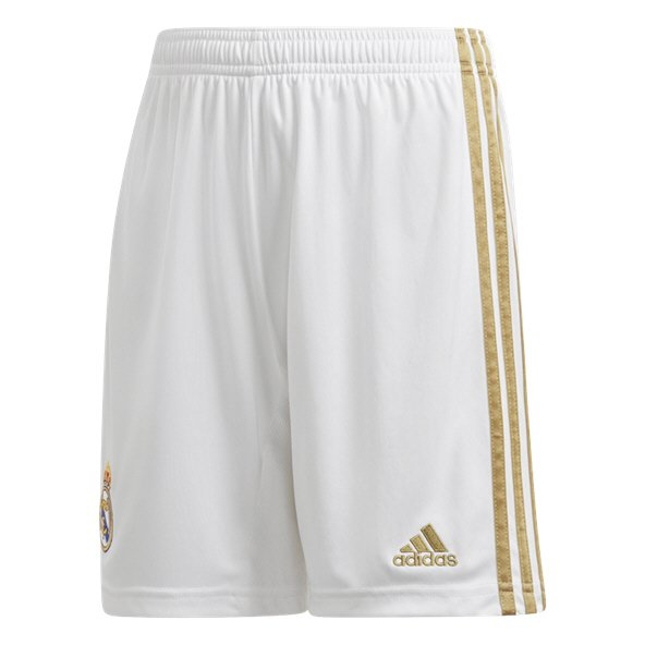 adidas Real Madrid 2019/20 Kids' Home Short, White