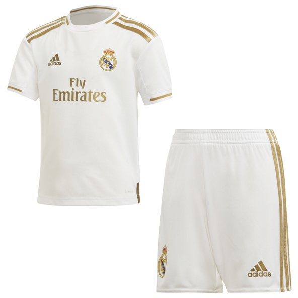 adidas Real Madrid 2019/20 Kids' Home Kit, White