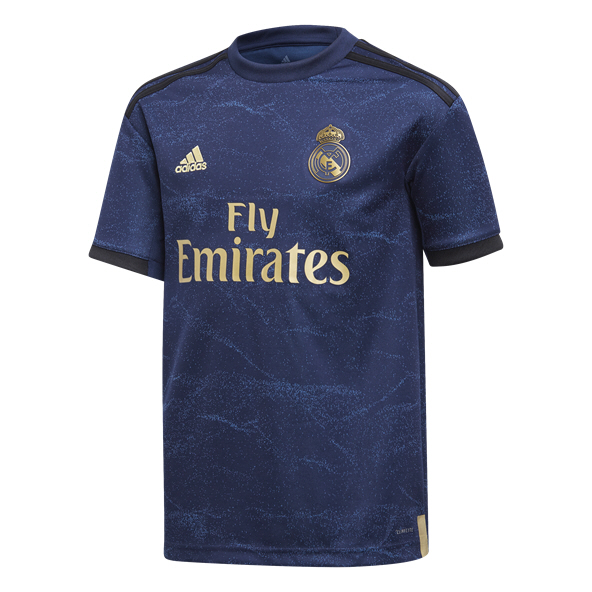 adidas Real Madrid 2019/20 Kids' Away Jersey, Navy