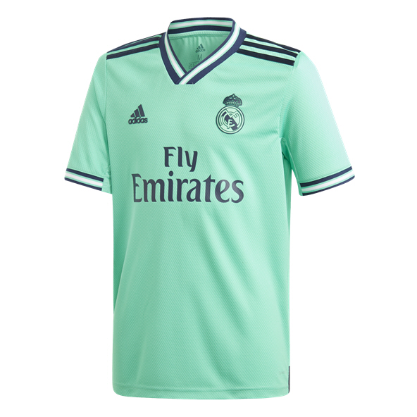 adidas Real Madrid 2019/20 Kids' 3rd Jersey, Green