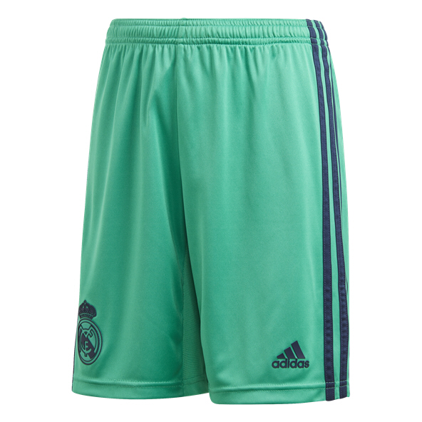 adidas Real Madrid 2019/20 Kids' 3rd Short, Green