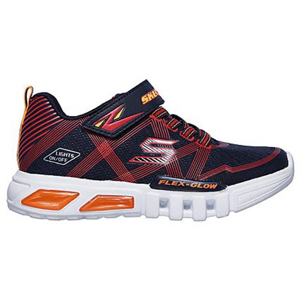 Skechers Flex Glow Junior Boys' Trainer, Navy
