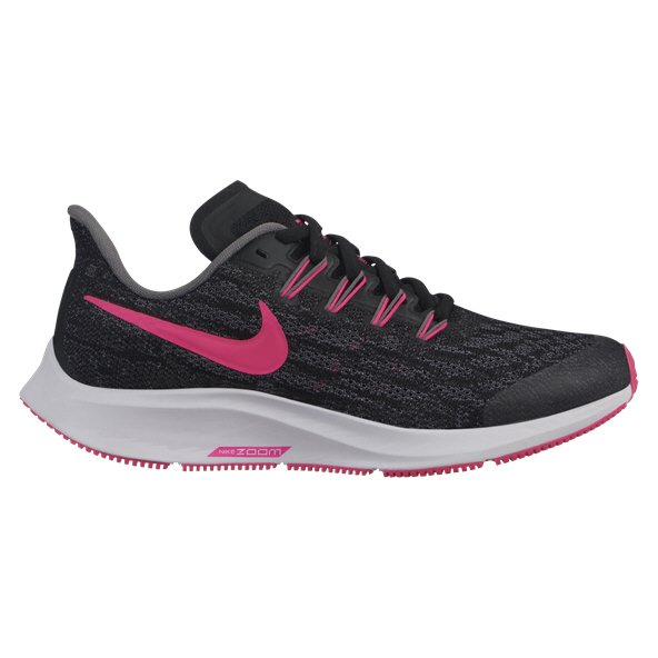 Nike Zoom Pegasus 36 Girls' Running Shoe, Black
