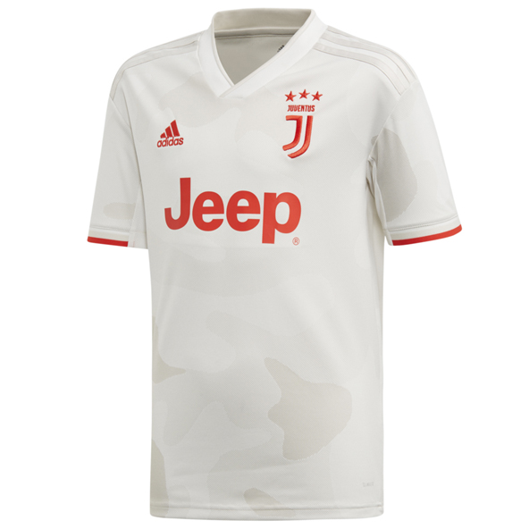 adidas Juventus 2019/20 Kids' Away Jersey, White