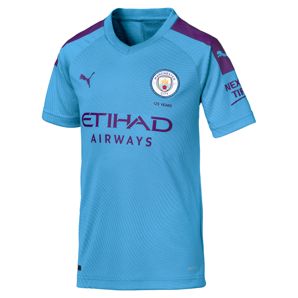 Puma Manchester City 2019/20 Kids' Home Jersey, Blue