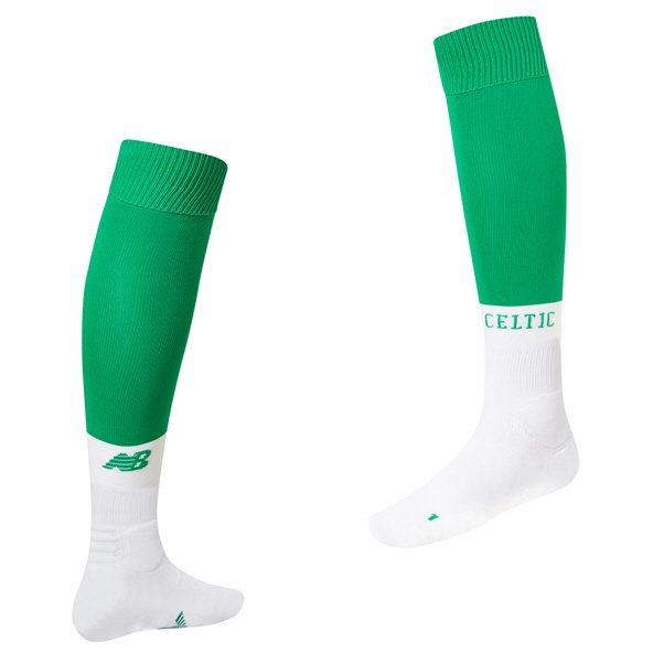 New Balance Celtic 2019/20 Home Sock, White