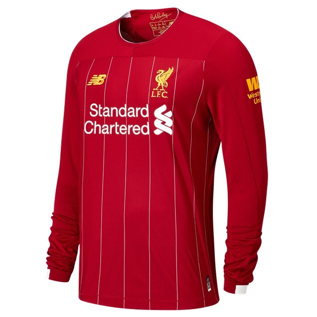 New Balance Liverpool 2019/20 Home LS Jersey, Red