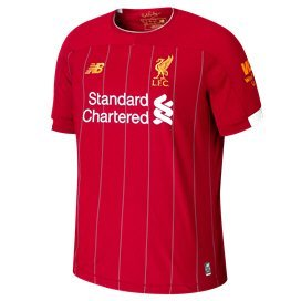 New Balance Liverpool 2019/20 Kids' Home Jersey, Red