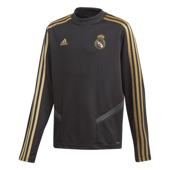 adidas Real Madrid 2019/20 Kids' Training Top Black