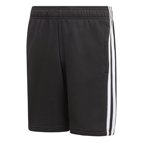 adidas Essential 3 Stripe Knit Boys' Short, Black