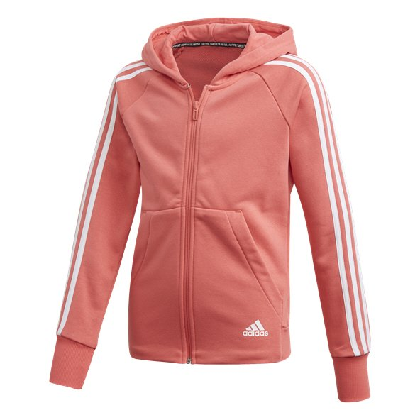 adidas Must Have 3-Stripe Girls' FZ Hoody, Pink