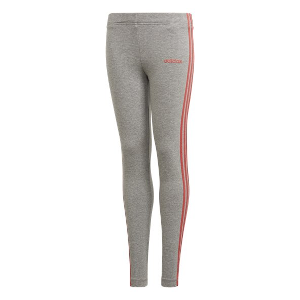 adidas Essential 3-Stripe Girls' Tight, Grey