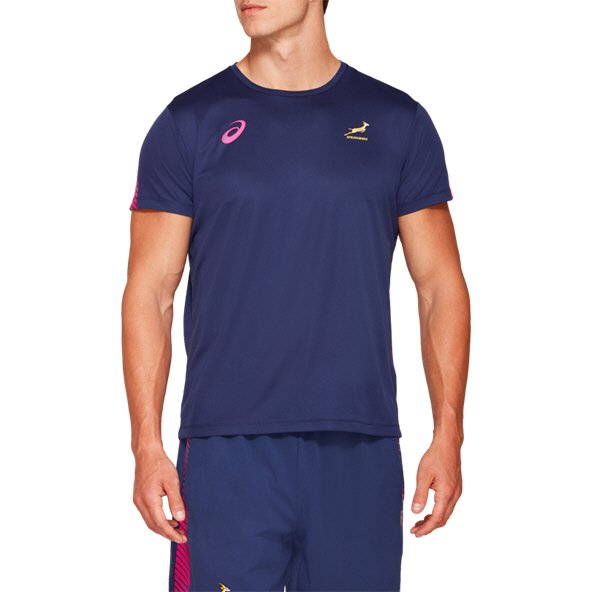 Asics Springboks 2019 Training T-Shirt, Navy
