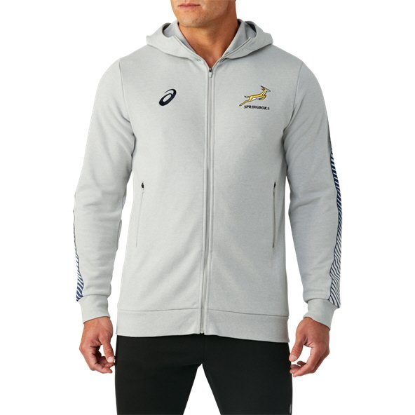 Asics Springboks 2019 Travel Hoody, Grey