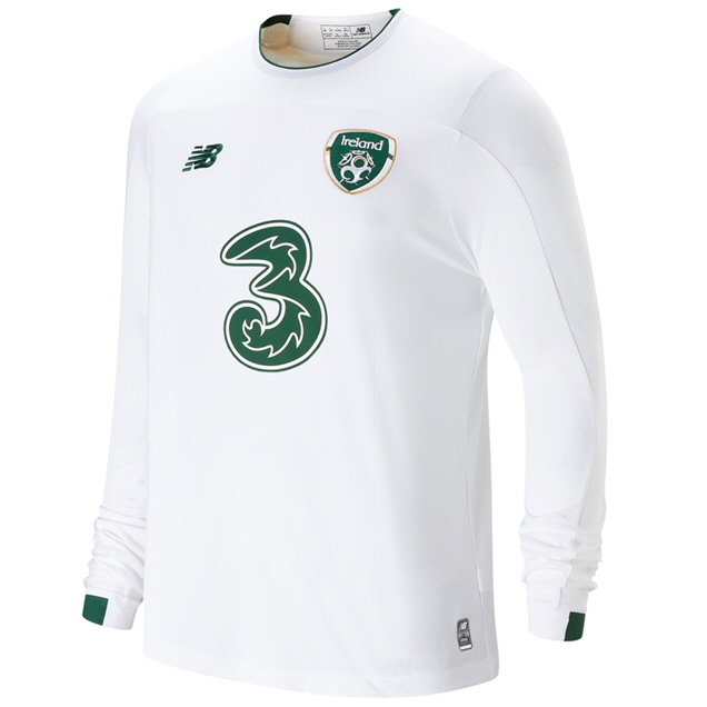 NB Ireland FAI 2019 LS Away Jersey, White