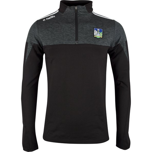 O'Neills Limerick Cronin ½ Zip Brushed Top, Black