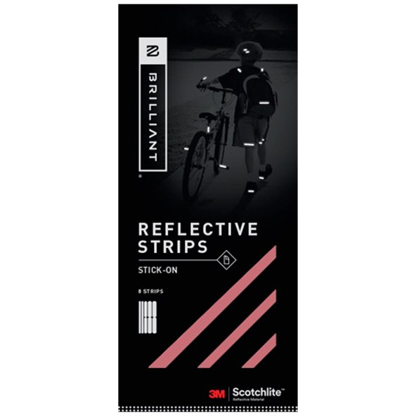 Brilliant Reflective Strips Stick On Red