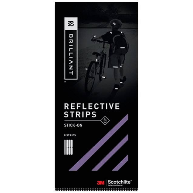 Brilliant Reflective Strip Stick On Purple