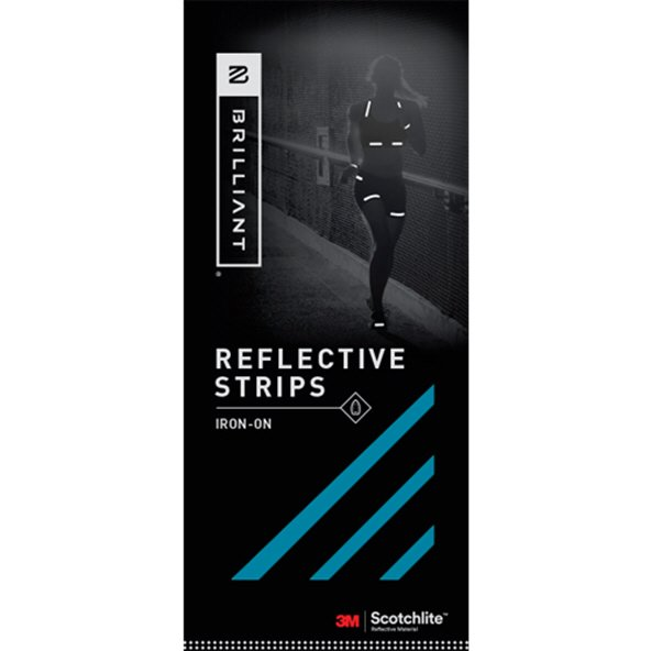 Brilliant Reflective Strips Iron On Blue
