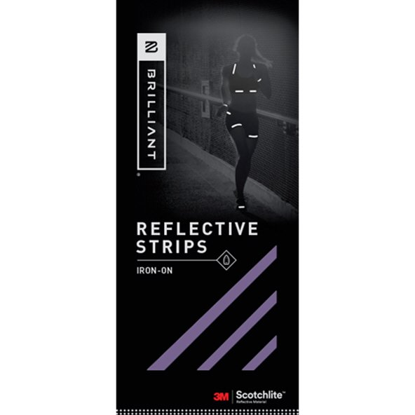 Brilliant Reflective Strips Iron On Purp