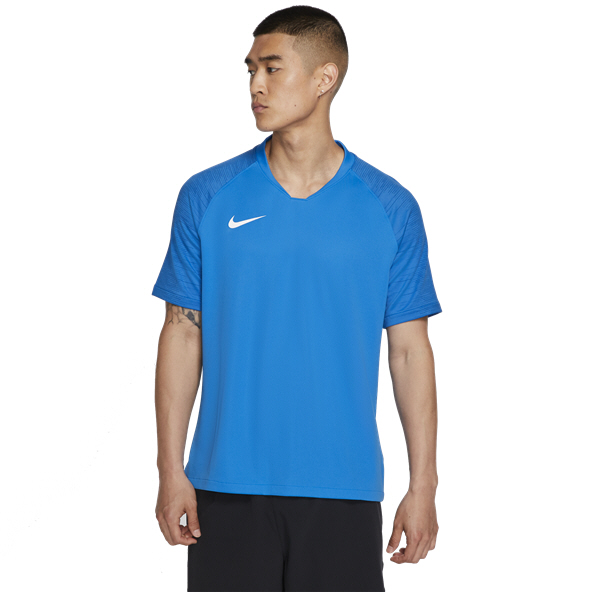 Nike Breathe Strike Football T-Shirt, Blue