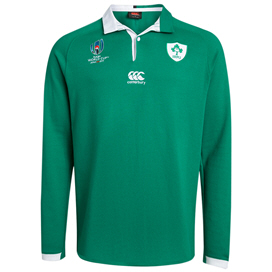 Canterbury IRFU RWC19 Home LS Jersey, Green
