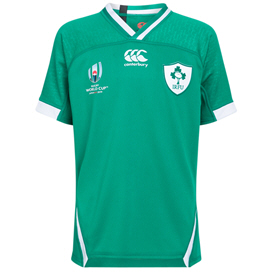 Canterbury IRFU RWC19 Kids' Pro Home Jersey, Green