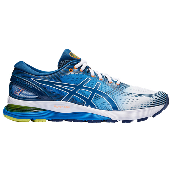 Asics Gel-Nimbus 21 Men's Running Shoe, White
