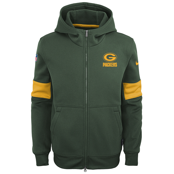 Nike Packers 19 Therma Kid FZ Hoody Grn