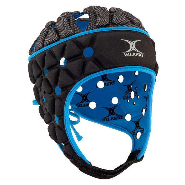 Gilbert Air Kids' Headguard, Black Blue